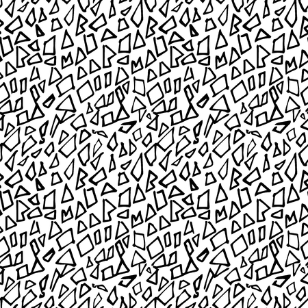 textil: Abstract seamless pattern with geometriacal lines Illustration
