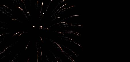 One single firework in the sky great for a background. Archivio Fotografico