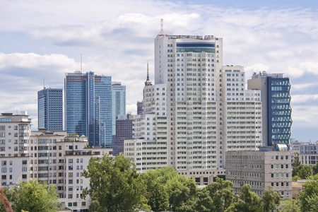 View of Warsaw - capital of Poland . City center.  Stockfoto