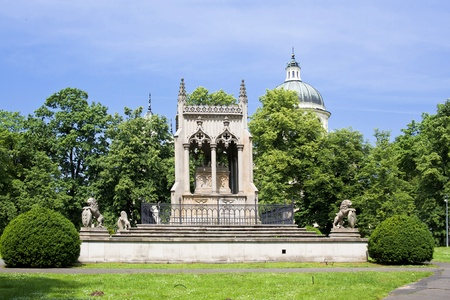 Tomb of Potoccy near palace Wilanow in Warsaw. Sights of Warsaw Stock Photo - 11601869