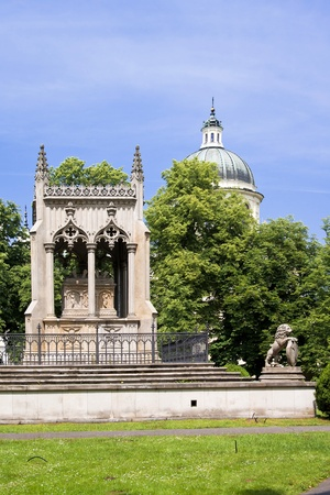 Tomb of Potoccy near palace Wilanow in Warsaw. Sights of Warsaw Stock Photo - 11601861