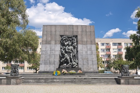 Monument of Ghetto Heroes. Nazi Victims.