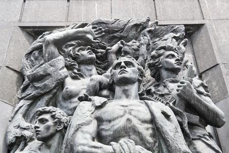 Monument van Ghetto Heroes. Nazi-slachtoffers.