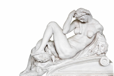 Symbols in arts - Night. Copy of sculpture Michelangelo. Medici Chapels. Stock Photo