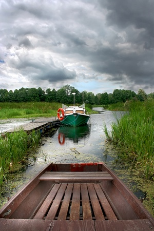Boat on the lake in Europe. Stock Photo - 12054553
