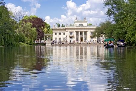 Palace in Warsaw luxury garden Lazienki  Poland