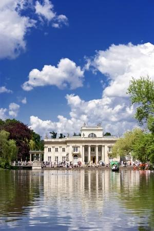 Palace in Warsaw luxury garden Lazienki  Poland Stock Photo - 13639875