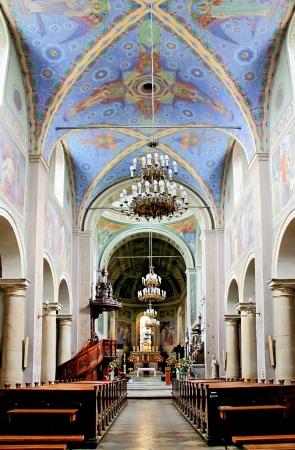 neo gothic: Gothic cathedral in Poland  Baroque interior  City Plock