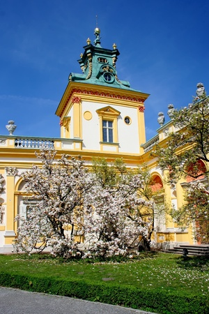 Baroque palace Wilanow in Warsaw. Tourist place in capital of Poland. Stock Photo - 12228151