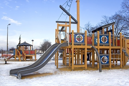 Winter playground. photo