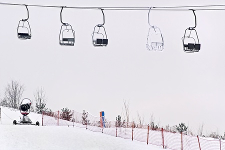 Ski station - chairlift. Stock Photo - 12233478