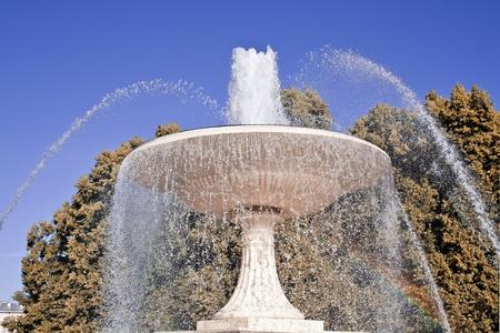 Pretty fountain in warsaw.  photo
