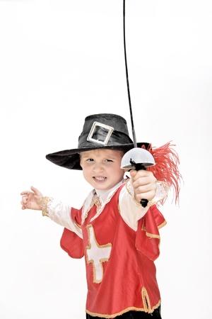 Jongen met carnaval kostuum Stockfoto