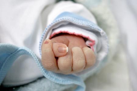 Newborn baby hand  Stock Photo - 12960721