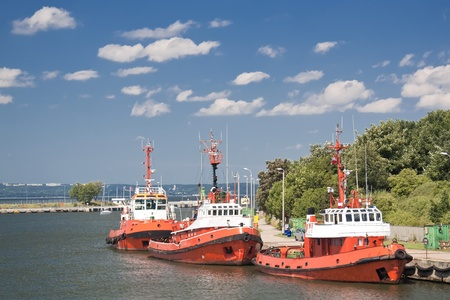 Cargo harbor in Poland - Gdansk - Danzig Stock Photo - 12987016