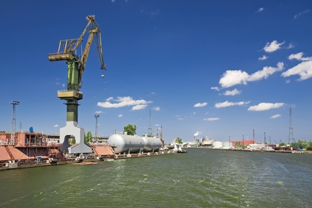 Cargo harbor in Poland - Gdansk - Danzig Stock Photo - 12986992