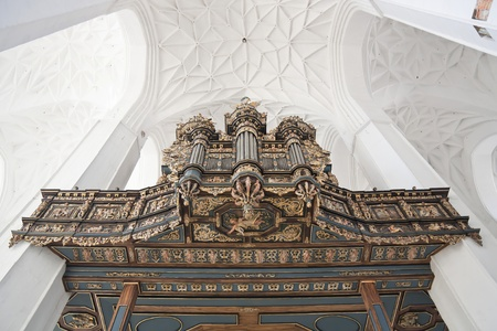 Baroque organ in Cathedral  Monument in Old Town  photo