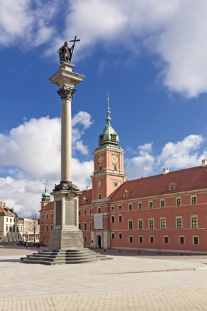 Sights of Poland  Warsaw Castle Square with king Sigismund column   Stock Photo - 13580546