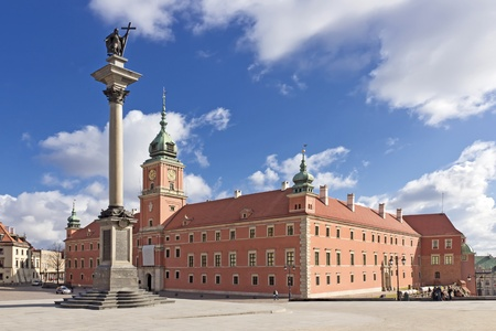 Sights of Poland  Warsaw Castle Square with king Sigismund column   Stock Photo - 13580608