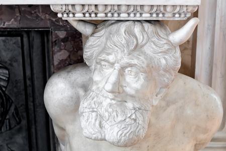 Symbols in arts - devil  Baroque palace in Warsaw
