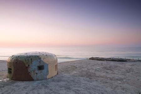 Bunkers on the beach  Polish seaside Stock Photo - 13576686