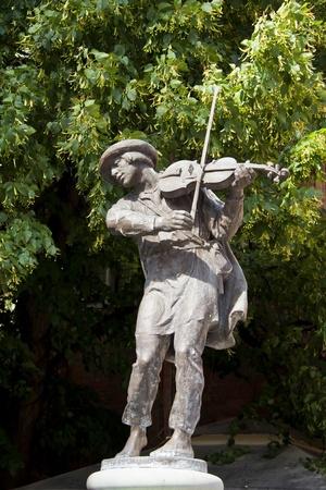 fiddler: Monument of fiddler in Torun  Home town of Copernicus