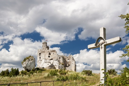 Gothic rocky castles in Poland  Touristic route of Eagle Stock Photo - 13576618