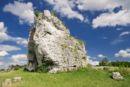 Rocky landscape in Poland  Touristic route of Eagle s Nests between Cracow and Czestochowa   photo
