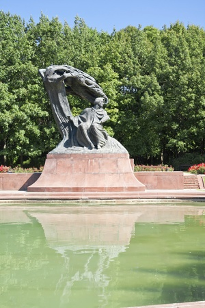 chopin: Summer park with monument of Chopin - Warsaw, Poland