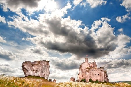 Gothic rocky castles in Poland  Touristic route of Eagle photo