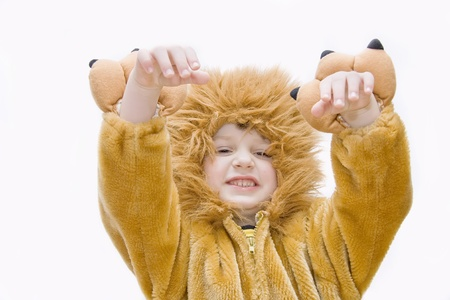 Little boy in carnival costume - lion