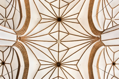 ribbed: Sights of Poland  Cross-ribbed vault in Gothic church  Warsaw  Cathedral saint John  Editorial