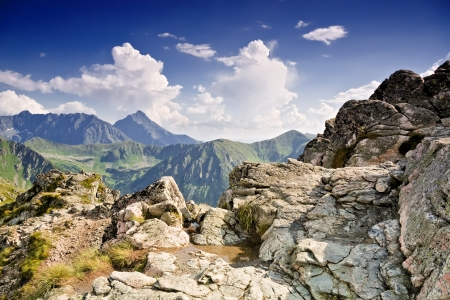 Polish landscapes  Mountain - Tatras  National park - ecological Stock Photo