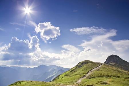 Sunny Tatra - hoge berg in Europa Nationaal Park in Polen - ecologiocal reserve Stockfoto