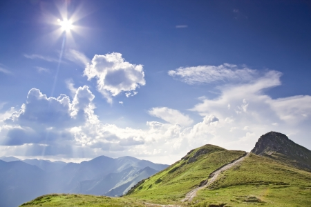 Sunny tatras - high mountain in Europe  National Park in Poland - ecologiocal reserve