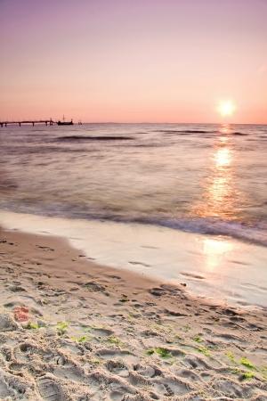Background - sunset at seaside Stock Photo - 13931299