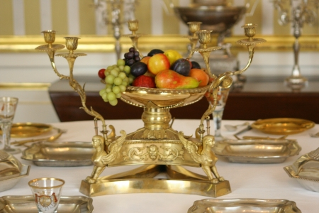 Old luxury table in palace interior  Stock Photo - 18434741