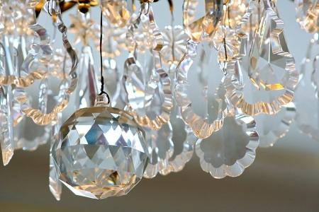 liquid crystal: Detalle de fondo de cristal de la l�mpara Foto de archivo