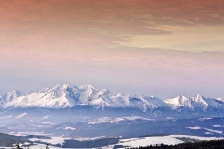 Sunset in High mountain   photo