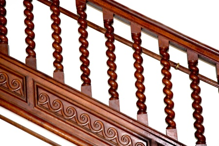 Abstract view of old balustrade