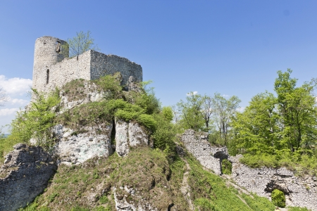 Gothic rocky castles in Poland. Touristic route of Eagle's Nest between Cracow and Czestochowa.  Stock Photo - 15023049