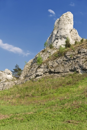 Rocky landscape in Poland. Touristic route of Eagle's Nests between Cracow and Czestochowa. photo
