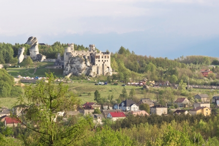Gothic rocky castles in Poland. Touristic route of Eagle's Nest between Cracow and Czestochowa. Stock Photo - 15023042