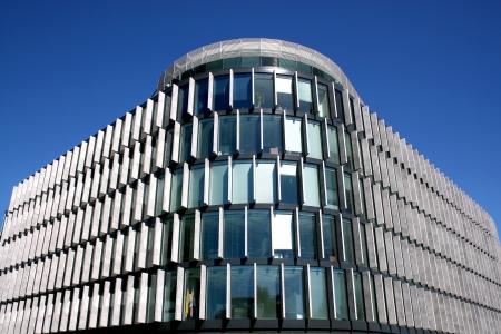 Moderne architectuur, Polen Details van de wolkenkrabber in Warschau Architect Norman Foster Redactioneel
