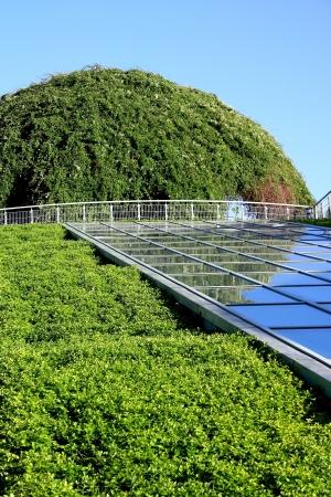 Ökologische modernen Gebäude der Bibliothek der Universität Warschau Polen