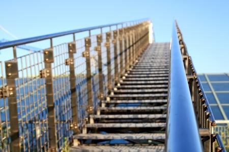guard rail: Stairway to heaven  Stock Photo