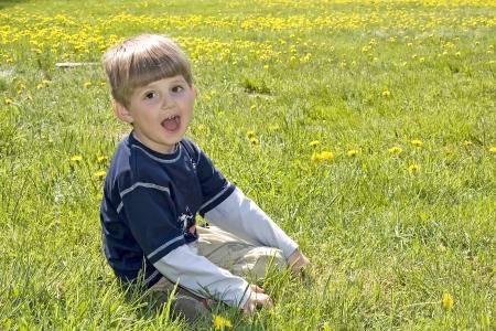 Happy boy in the park Stock Photo - 16639535