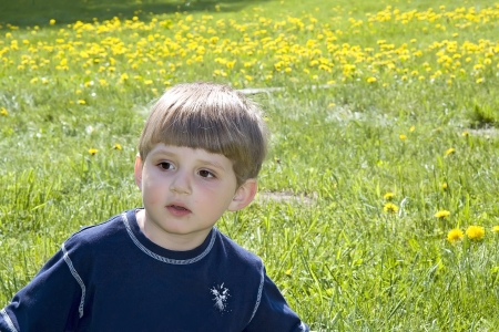 Happy boy in the park Stock Photo - 16639552