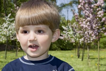 Happy boy in the park Stock Photo - 16639540