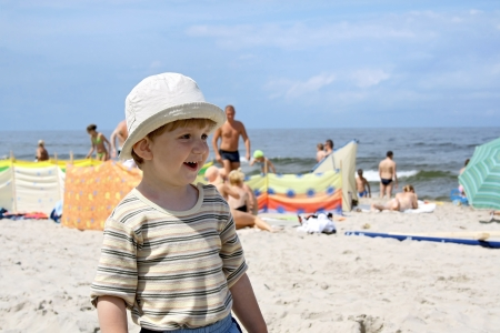 Wonder years  Little boy on a beach  Stock Photo - 16847218